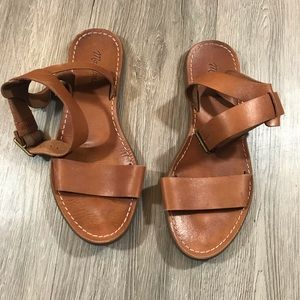 Madewell Boardwalk Brown Leather Ankle Strap
